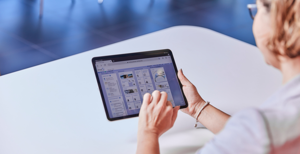 Dashboard auf Tablet